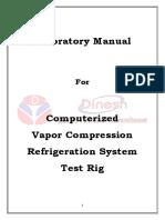 Vapor Compression Refrigeration Test Rig Computerised Lab Manual