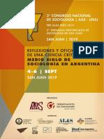 2da Circular Congreso Sociología San Juan 2019