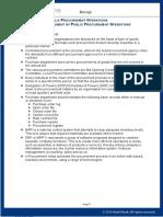 Management Of Public Procurement & Operations