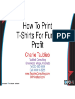 How to Print TShirts for Fun and Profit