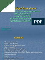 Centrifugal Pumps Course