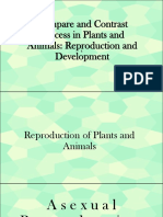 Compare and Contrast Plant and Animal Reproduction and Development