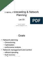 Traffic Forecasting & Network Planning - Lec 03