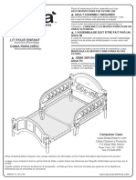 BB204-Toddler Bed Assembly Instructions