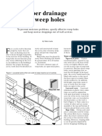 Drainage weep holes