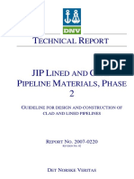 DnV JIP Report - Guidelines - Lined and Clad Pipeline Materials Ph2 - 2007-0220Rev2