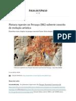 Pintura Rupestre No Peruaçu (MG) Subverte Conceito de Evolução Artística - 21-11-2018 - Turismo - Folha