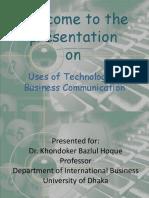 usesoftechnologyinbusinesscommunication-120124120500-phpapp02