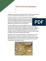 Reconocimiento de Procesos Geológicos