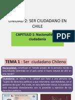 4° MEDIO. UNIDAD 2 SER CIUDADANO EN CHILE. CAPITULO UNO  2019
