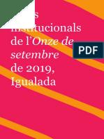 Programa d'actes Onze de setembre
