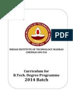 B.tech.Curriculum 2014