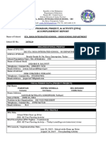 Makakalikasan Ssg Ppa Accomplishment Report Template Edited