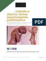 Maternidade e aborto_ breve apontamento jusfilosófico - Burke Instituto