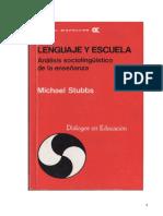 8.0.Lenguaje y Escuela. Michael Stubbs