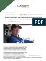 Amigos e Prefeitura Lamentam Morte de Motorista Do Samu - Cotidiano - ACidade on Ribeirão
