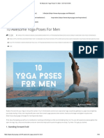 10 Awesome Yoga Poses for Men - DOYOUYOGA