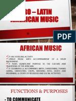 Afro – Latin American Music
