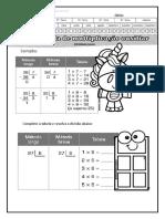 Divisão Tabela Multiplicação Atividades Suzano
