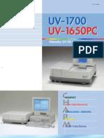 Shimadzu Spectrophotometer UV1700 & UV1650PC