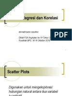 Analisis Korelasi Regresi Statistisi Ahli