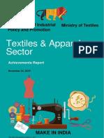 Textiles Sector - Achievement Report