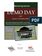 2017 MIT VMS Demo Day Program