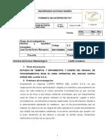 ANTEPROYECTO  ESTUDIO DE TIEMPOS .doc