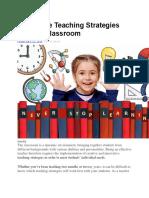 Classroom Strategies.docx