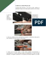 Pasos Generales Para Elaborar Un Cable UTP Para Red