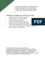 Apunte Extinción en Chile