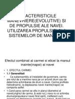 CARACTERISTICILE MANEVRIERE SI DE PROPULSIE ALE NAVEI.ppt