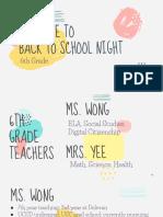 6th grade bts night 2019-20