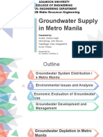 Groundwater Supply in Metro Manila