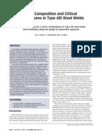 influencia de la composicion en temperaturas criticas en soldaduras de acero tipo 410