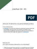 Derechos 14 - 41