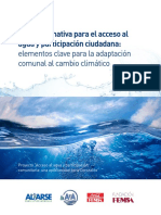 Guía informativa para el acceso al agua y participación ciudadana
