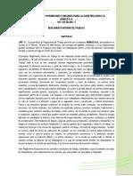 Reglamento Interno Trabajo 2017