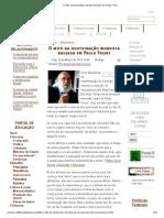 O Mito Da Doutrinação Marxista Baseada Em Paulo Freire