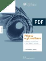 Privacy e Giornalismo Edizione 2012