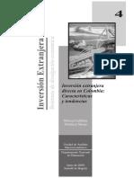 Inversión extranjera directa en Colombia características y tendencias.pdf