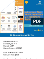 User manual for state excise