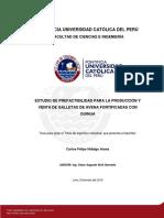 Estudio Prefactibilidad Galletas Avena