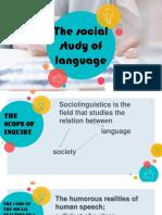 The Social Study of Language