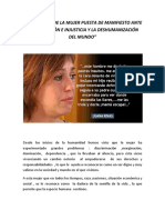 LA DIGNIDAD DE LA MUJER PUESTA DE MANIFIESTO ANTE LA CORRUPCIÓN E INJUSTICIA Y LA DESHUMANIZACIÓN DEL MUNDO.docx