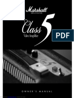 Marshall Class 5 Owner Manual