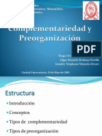Complementariedad y Preorganización