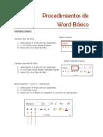 Procedimientos de Word Básico