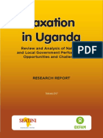 Taxation in Uganda - Review and Analysis of National and Local Government Performance Opportunities and Challenges