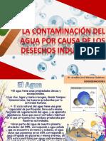 La contaminacion del agua por desechos industriales